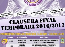 CARTEL CLAUSURA FINAL DE TEMPORADA EB MADRID SIERRA