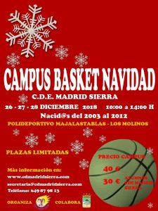 Campus Básket de Navidad @ Polideportivo Majalastablas
