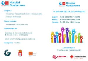 VI Encuentro de voluntariado @ Hospital de Guadarrama