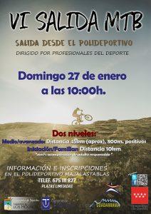VI Salida MTB para el domingo 27 de enero @ Polideportivo Majalastablas