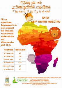 """Días sin cole """"Unforgettable Africa"""" @ CEIP DIVINO MAESTRO"""