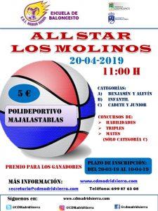 All Star Los Molinos @ Polideportivo Majalastablas
