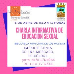 Charla informativa de educación sexual @ Biblioteca Municipal de Los Molinos