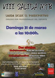 "VIII Salida MTB ""Ruta de los Cerros"" @ Polideportivo Majalastablas"