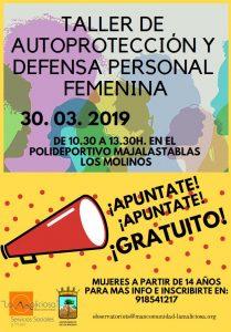 Taller de Autoprotección y Defensa Personal Femenina @ Polideportivo Majalastablas