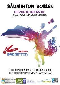 Final de la Comunidad de Madrid de Bádminton dobles @ Polideportivo Majalastablas