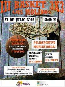 III Basket 3x3 Los Molinos @ Polideportivo Majalastablas