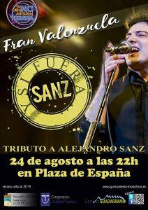 """Concierto """"Tributo a Alejandro Sanz, y si fuera Sanz"""" @ Plaza del Ayuntamiento"""