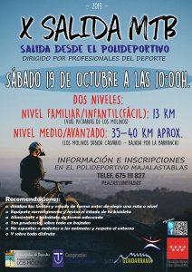 Salida MTB 19 octubre @ Polideportivo Majalastablas