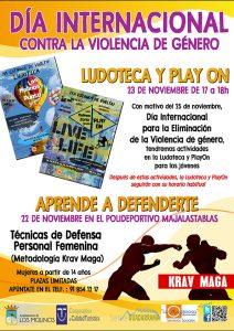 """Día Internacional contra la Violencia de Género """"Aprende a defenderte"""" @ Polideportivo Majalastablas"""