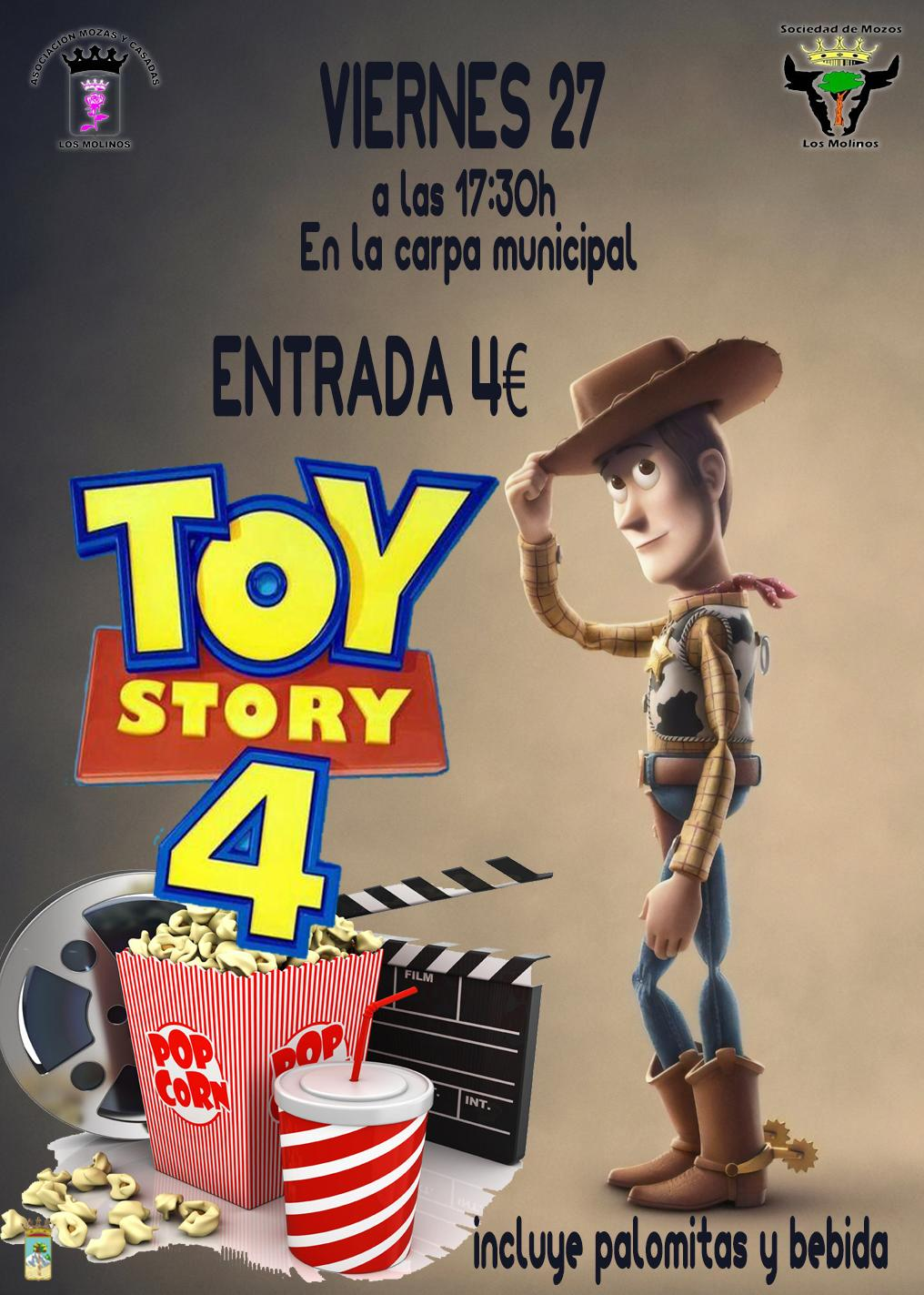"TARDE DE CINE:  ""TOY STORY 4"" @ Antiguo colegio (Carpa Municipal)"