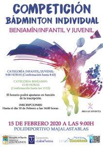 Competición de bádminton ADS @ Polideportivo Majalastablas