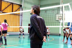 Entrenamiento de la selección de voleibol de ADS @ Polideportivo Majalastablas