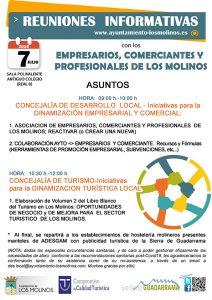 Reuniones informativas con los empresarios, comerciantes y profesionales de Los Molinos @ Sala Polivalente Antiguo Colegio