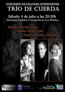 Concierto de grandes intérpretes: Trío de Cuerda @ Parroquia Purísima Concepción