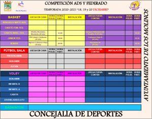 Competición ADS y Federado @ Polideportivo Majalastablas