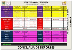 Partidos deporte federado @ Polideportivo Majalastablas